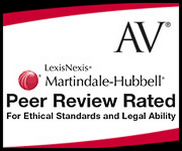 AV Rated Firm by Martindale, Lawyers.com and LexisNexis